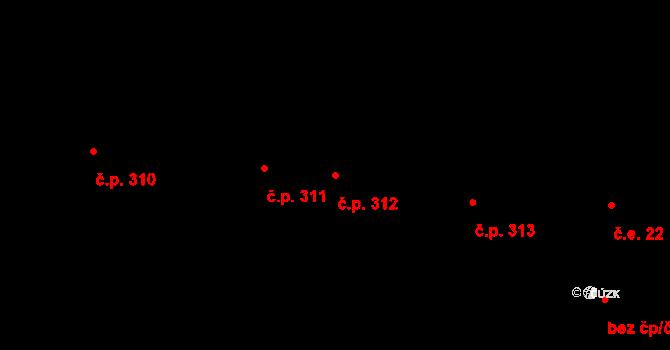 Prosek 312, Praha na parcele st. 520 v KÚ Prosek, Katastrální mapa