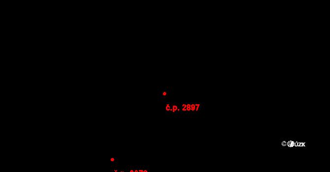 Zlín 2897 na parcele st. 2023/1 v KÚ Zlín, Katastrální mapa
