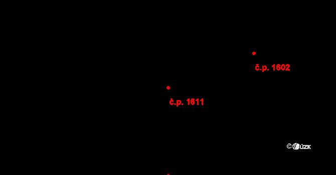 Švermov 1611, Kladno na parcele st. 1142 v KÚ Hnidousy, Katastrální mapa