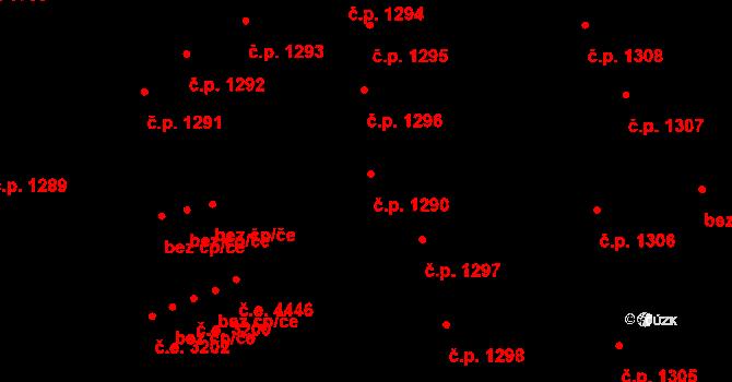 Jihlava 1290 na parcele st. 2738 v KÚ Jihlava, Katastrální mapa