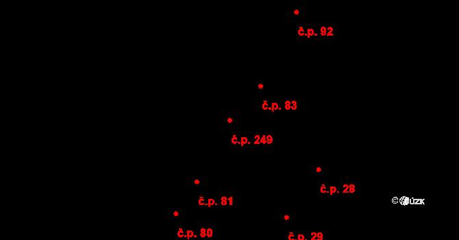 Nové Jesenčany 249, Pardubice na parcele st. 724 v KÚ Nové Jesenčany, Katastrální mapa