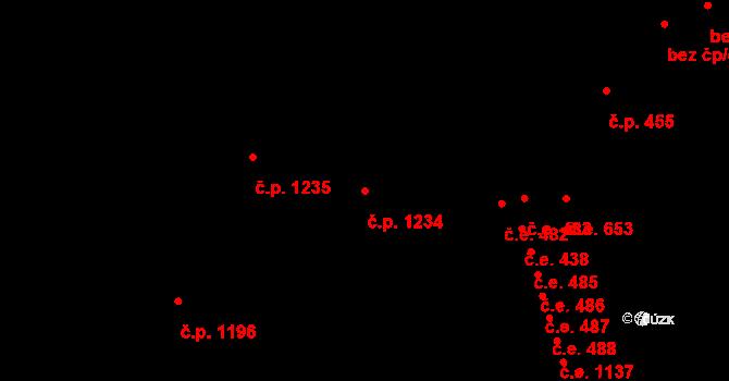 Český Těšín 1234 na parcele st. 968/3 v KÚ Český Těšín, Katastrální mapa