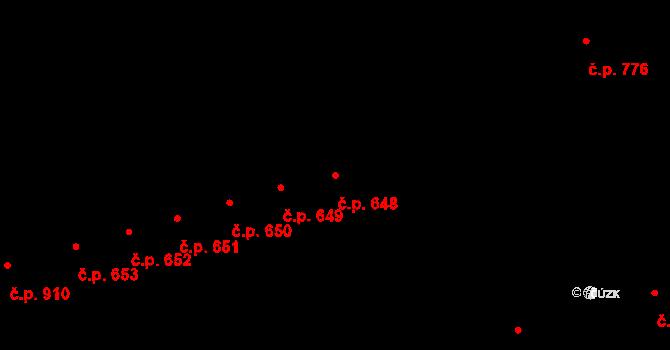 Kaplice 648 na parcele st. 2020/30 v KÚ Kaplice, Katastrální mapa