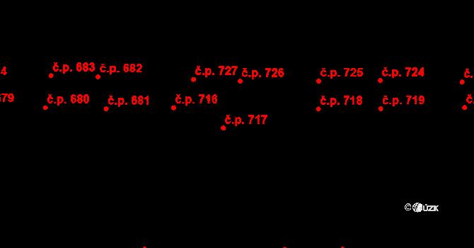 Horní Měcholupy 717, Praha na parcele st. 521/294 v KÚ Horní Měcholupy, Katastrální mapa