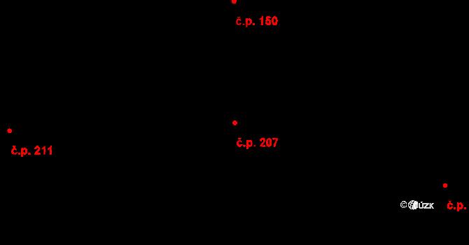 Studánka 207 na parcele st. 318 v KÚ Studánka u Tachova, Katastrální mapa