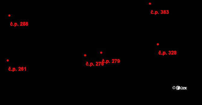 Mladcová 279, Zlín na parcele st. 472 v KÚ Mladcová, Katastrální mapa
