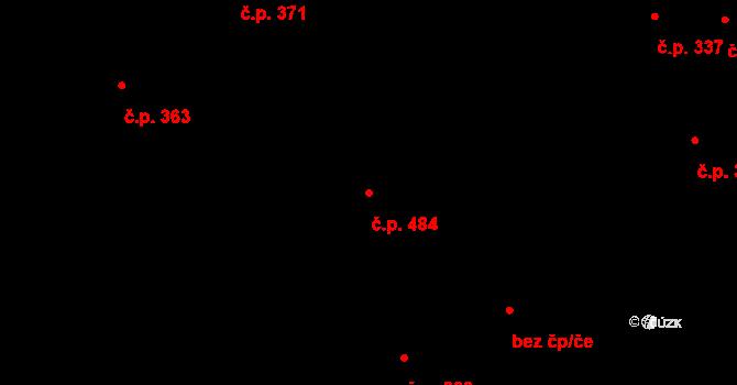 Přibice 484 na parcele st. 680 v KÚ Přibice, Katastrální mapa