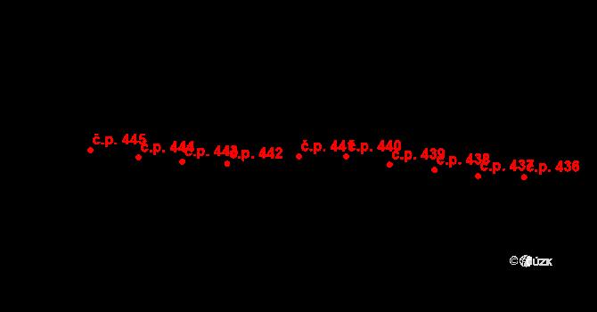 Horní Těrlicko 441, Těrlicko na parcele st. 744 v KÚ Horní Těrlicko, Katastrální mapa