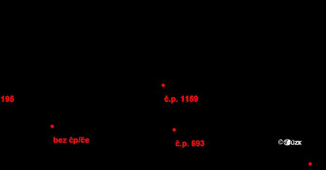 Černovice 1159, Brno na parcele st. 94/2 v KÚ Černovice, Katastrální mapa