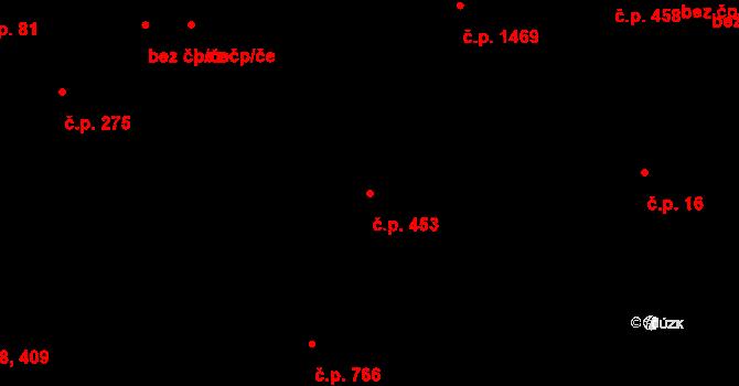 Hrabůvka 453, Ostrava na parcele st. 406 v KÚ Hrabůvka, Katastrální mapa