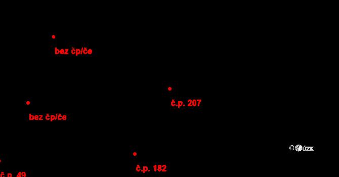 Velíková 207, Zlín na parcele st. 784/4 v KÚ Velíková, Katastrální mapa