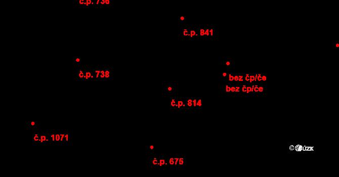 Pacov 814 na parcele st. 1444 v KÚ Pacov, Katastrální mapa