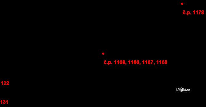 Kateřinky 1166,1167,1168,1169, Opava na parcele st. 1531 v KÚ Kateřinky u Opavy, Katastrální mapa
