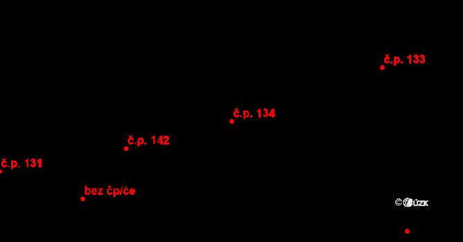 Studánka 134 na parcele st. 172/1 v KÚ Studánka u Tachova, Katastrální mapa