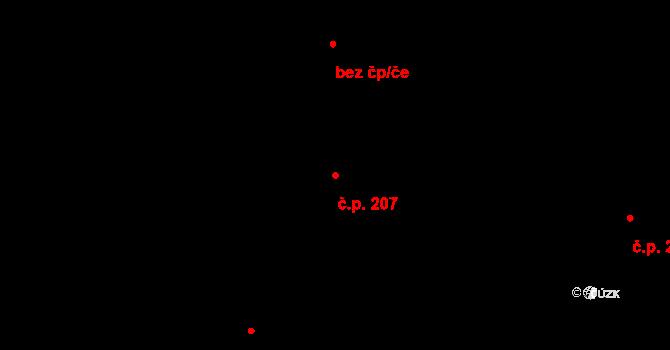 Zásada 207 na parcele st. 309/1 v KÚ Zásada, Katastrální mapa