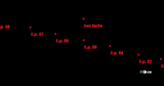 Staré Hory 55, Jihlava na parcele st. 80/1 v KÚ Staré Hory, Katastrální mapa