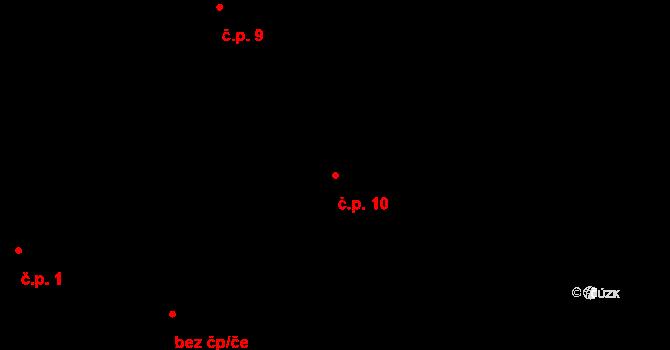 Knihy 10, Řenče na parcele st. 28 v KÚ Knihy, Katastrální mapa