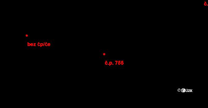 Bartovice 755, Ostrava na parcele st. 1993/2 v KÚ Bartovice, Katastrální mapa