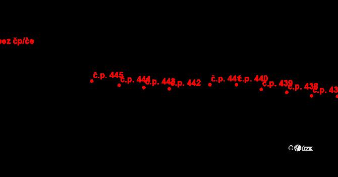 Horní Těrlicko 442, Těrlicko na parcele st. 746 v KÚ Horní Těrlicko, Katastrální mapa