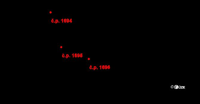 Vlašim 1696 na parcele st. 351/81 v KÚ Vlašim, Katastrální mapa
