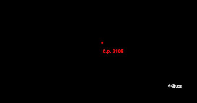 Kročehlavy 3105, Kladno na parcele st. 5824/2 v KÚ Kročehlavy, Katastrální mapa