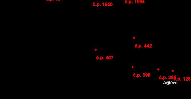 Severní Předměstí 407, Plzeň na parcele st. 10591 v KÚ Plzeň, Katastrální mapa