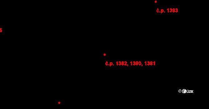 Kateřinky 1380,1381,1382, Opava na parcele st. 2227 v KÚ Kateřinky u Opavy, Katastrální mapa
