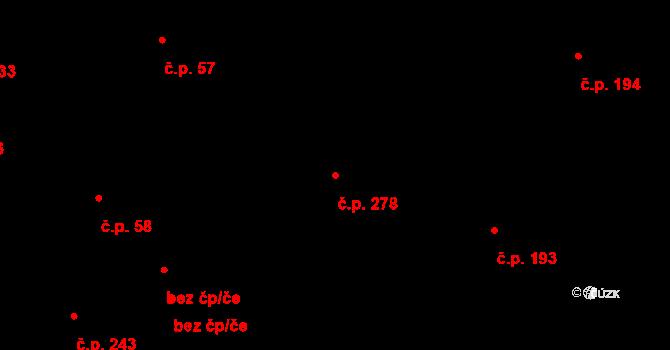 Malšova Lhota 278, Hradec Králové na parcele st. 442 v KÚ Malšova Lhota, Katastrální mapa