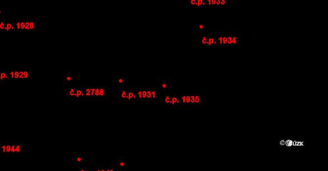 České Budějovice 3 1935, České Budějovice na parcele st. 4555 v KÚ České Budějovice 3, Katastrální mapa