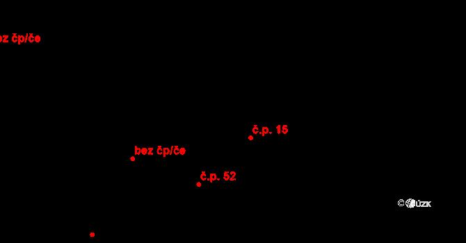 Předboř 15, Choustník na parcele st. 12/1 v KÚ Předboř u Choustníku, Katastrální mapa