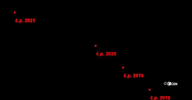 Chodov 2020, Praha na parcele st. 3341/6 v KÚ Chodov, Katastrální mapa