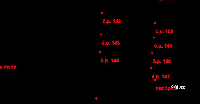 České Budějovice 5 144, České Budějovice na parcele st. 320 v KÚ České Budějovice 5, Katastrální mapa