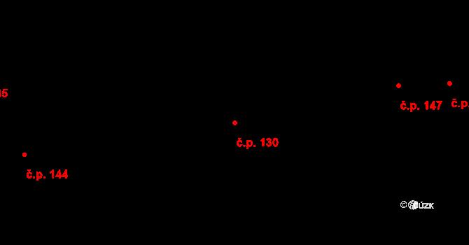 Nová Ves u Nového Města na Moravě 130 na parcele st. 22 v KÚ Nová Ves u Nového Města na Moravě, Katastrální mapa