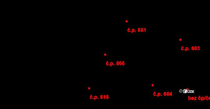 Studénka 566 na parcele st. 840 v KÚ Studénka nad Odrou, Katastrální mapa
