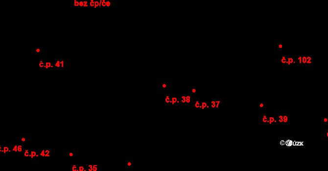 Zárybničná Lhota 38, Tábor na parcele st. 47 v KÚ Zárybničná Lhota, Katastrální mapa