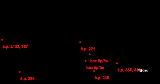 Koterov 221, Plzeň na parcele st. 1135 v KÚ Hradiště u Plzně, Katastrální mapa