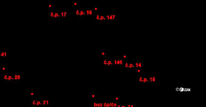 Žďár 146 na parcele st. 36/3 v KÚ Žďár u Blanska, Katastrální mapa