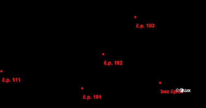 Plavsko 192 na parcele st. 247 v KÚ Plavsko, Katastrální mapa