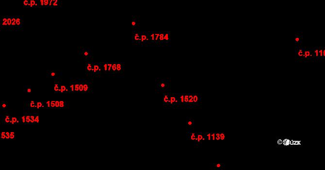Královo Pole 1520, Brno na parcele st. 2718 v KÚ Královo Pole, Katastrální mapa