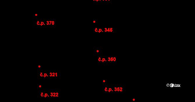 Černilov 350 na parcele st. 406 v KÚ Černilov, Katastrální mapa
