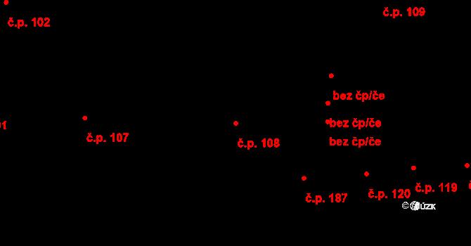 Příbram I 108, Příbram na parcele st. 36/1 v KÚ Příbram, Katastrální mapa