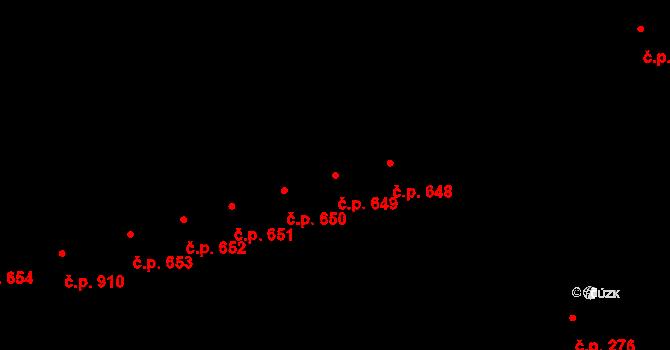 Kaplice 649 na parcele st. 2020/29 v KÚ Kaplice, Katastrální mapa