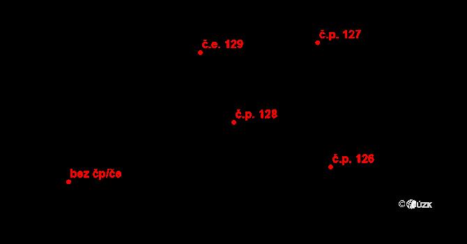 Lázně Kundratice 128, Osečná na parcele st. 4/2 v KÚ Lázně Kundratice, Katastrální mapa
