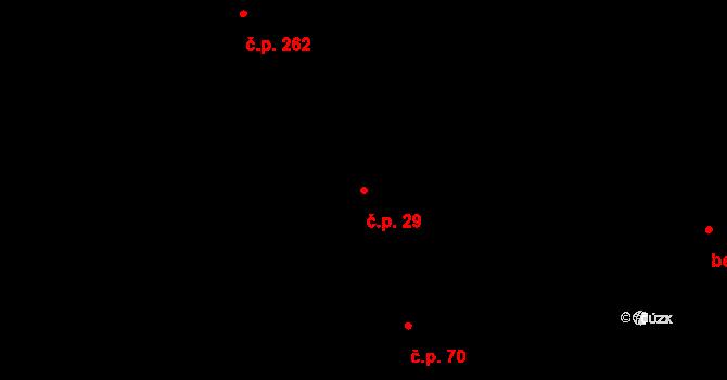 Zadní Třebaň 29 na parcele st. 1059 v KÚ Zadní Třebaň, Katastrální mapa