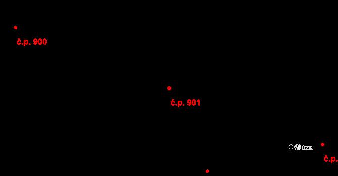Hlubočepy 901, Praha na parcele st. 1040/22 v KÚ Hlubočepy, Katastrální mapa
