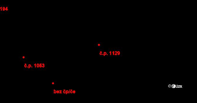 Přívoz 1129, Ostrava na parcele st. 1496 v KÚ Přívoz, Katastrální mapa