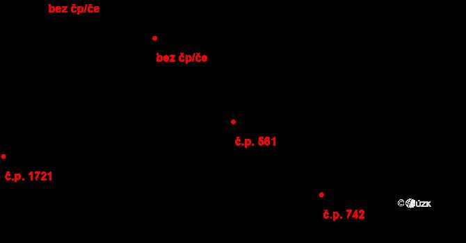 Studánka 561, Pardubice na parcele st. 350 v KÚ Studánka, Katastrální mapa