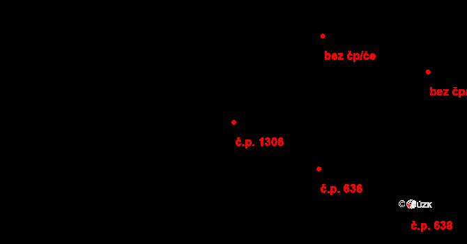 Miroslav 1306 na parcele st. 301/2 v KÚ Miroslav, Katastrální mapa