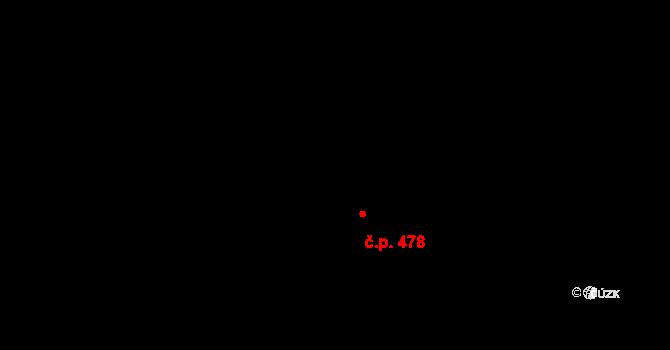 Horní Měcholupy 478, Praha na parcele st. 523/320 v KÚ Horní Měcholupy, Katastrální mapa