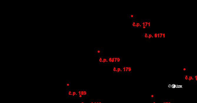 Mladcová 179, Zlín na parcele st. 258/2 v KÚ Mladcová, Katastrální mapa